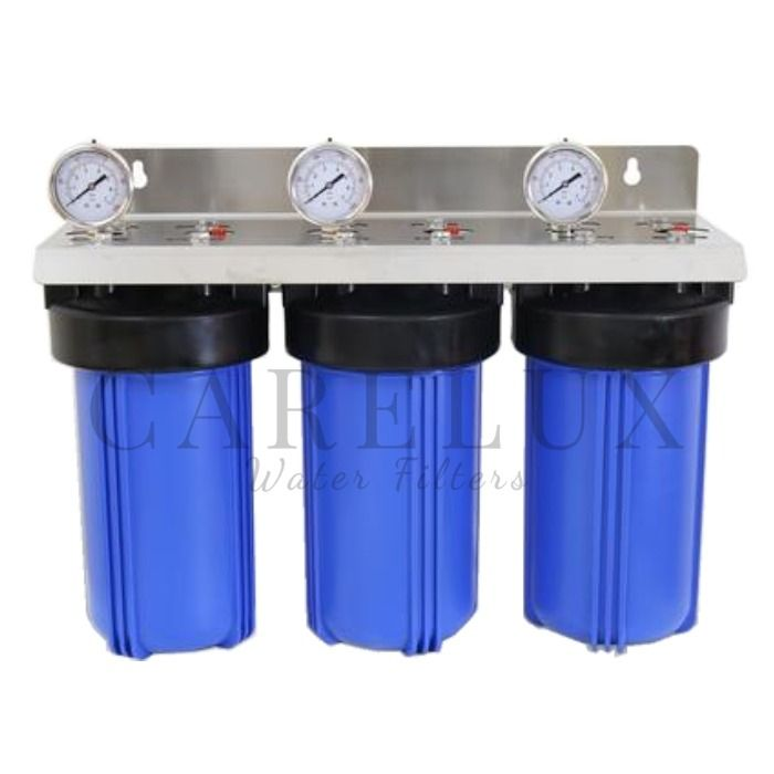 Big Blue Triple Whole House Water Filter Housing 10 X