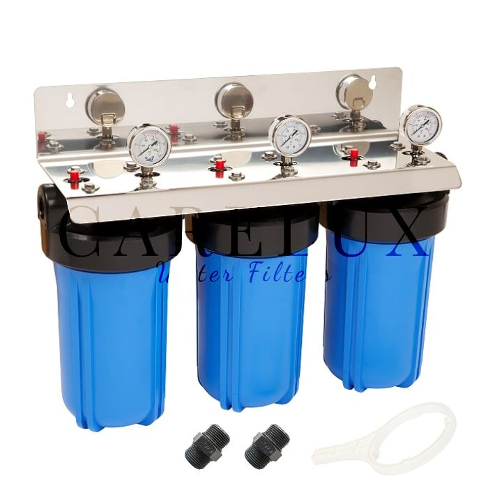 Big Blue Triple Whole House Water Filter Housing 1 Port