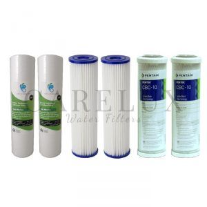 "3 Stage Filter Pack For 3 Stage 10"" x 2.5"" Water Filter Systems"