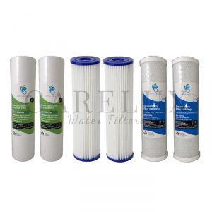 "3 Stage Water Filter Replacement Pack 10"" x 2.5"" (Washable Long Life Cartridge)"