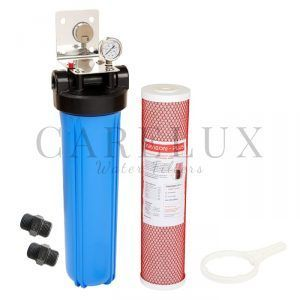 "Big Blue Single Whole House Water Filter System with Aragon Filter 20"" x 4.5"""