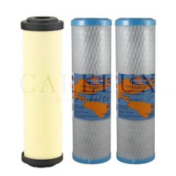 """Doulton Sterasyl Ceramic Filter and Omnipure OMB934-1MPb Carbon Water Filter 10"""" Inch"""